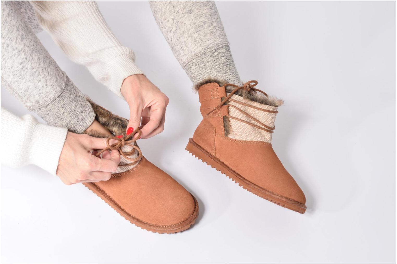 Bottines et boots Roxy Tara Gris vue bas / vue portée sac