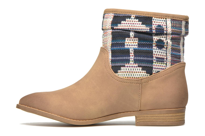 Boots en enkellaarsjes Roxy Sedona Beige voorkant