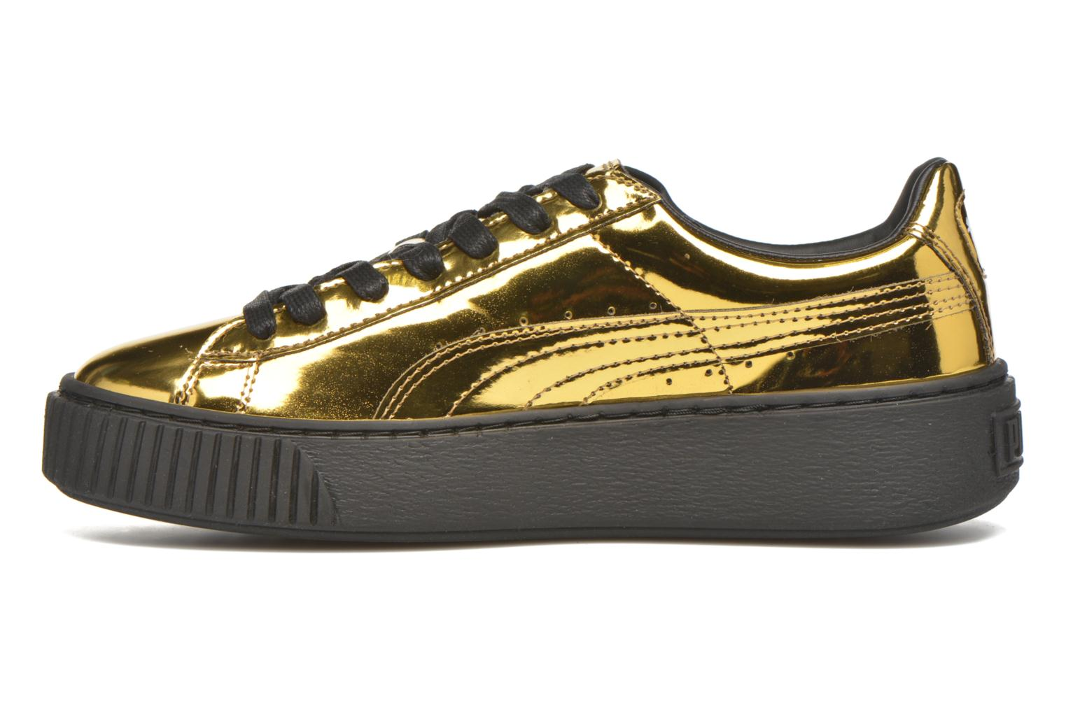 Trainers Puma Wns Basket Platform Bronze and Gold front view