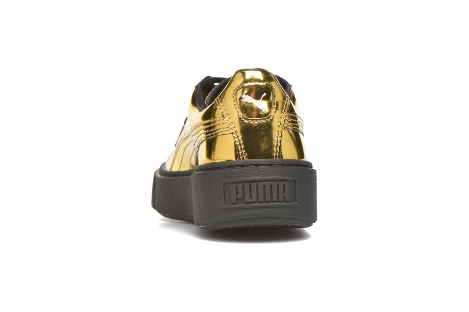 Trainers Puma Wns Basket Platform Bronze and Gold view from the right
