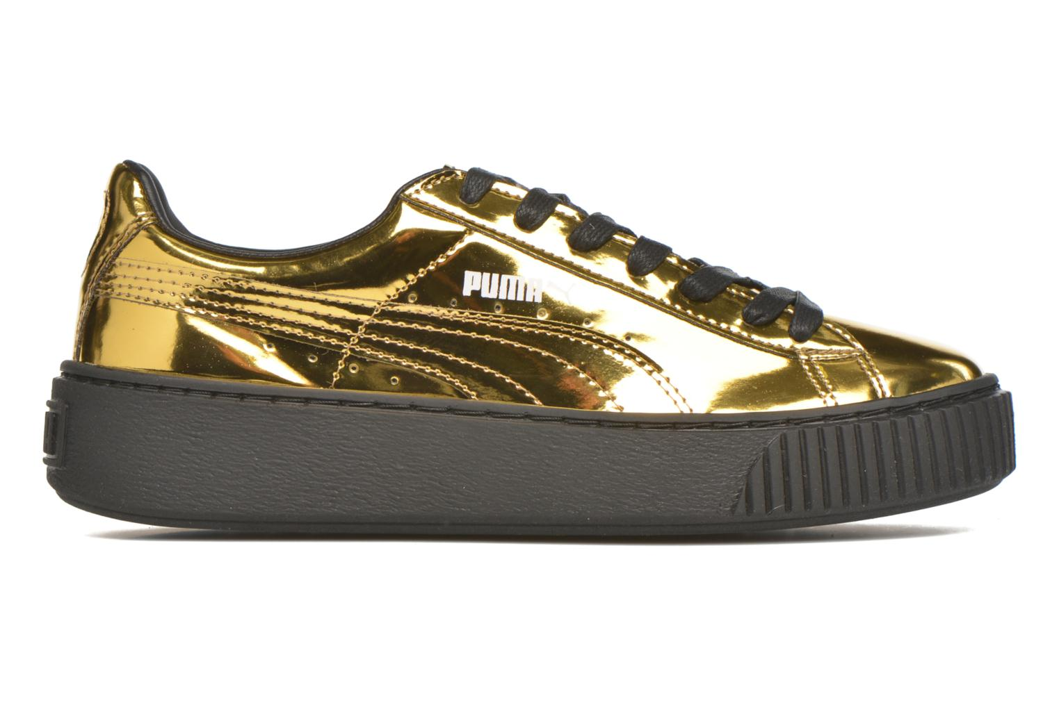 Trainers Puma Wns Basket Platform Bronze and Gold back view