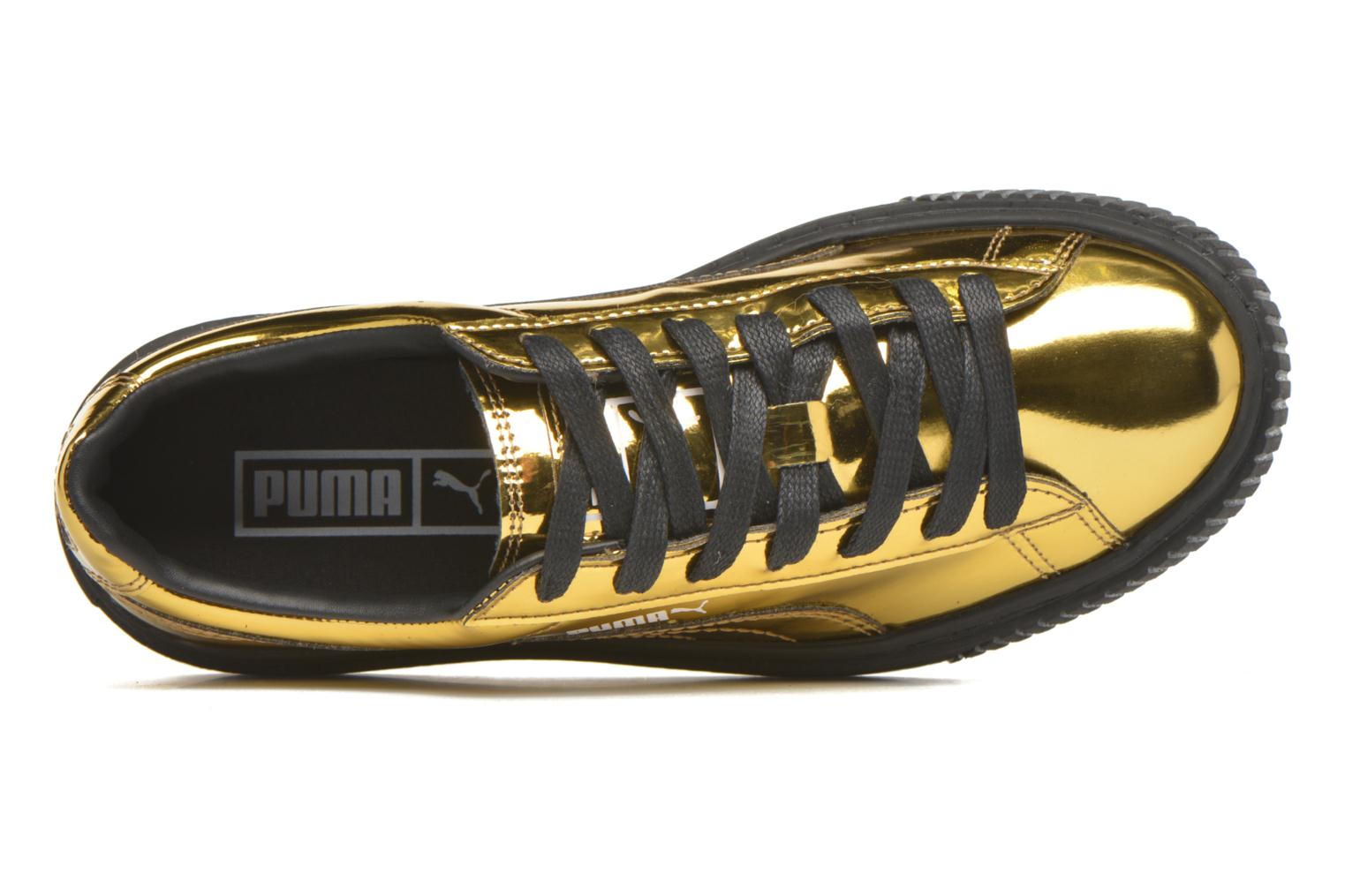 Trainers Puma Wns Basket Platform Bronze and Gold view from the left