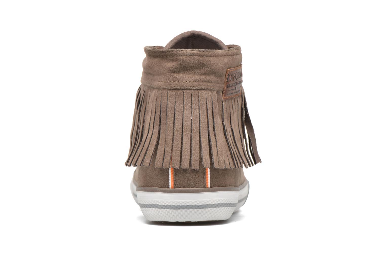 Baskets Kaporal Icarly Marron vue droite