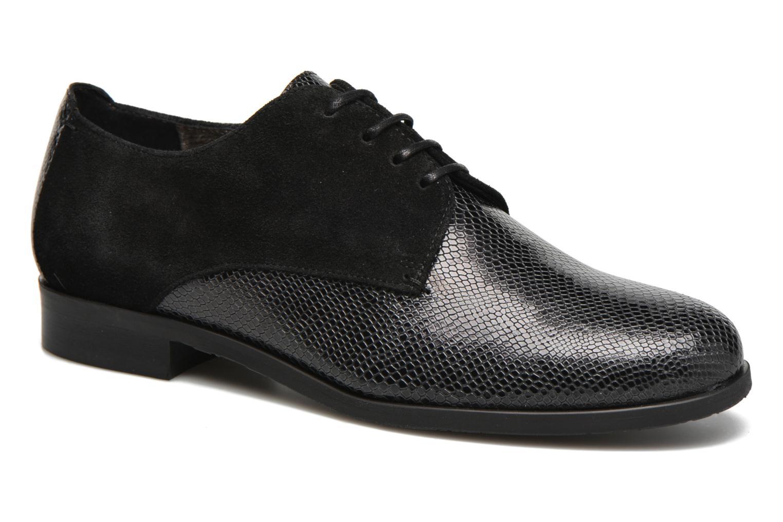 Chaussures à lacets HE Spring Morgan Noir vue détail/paire