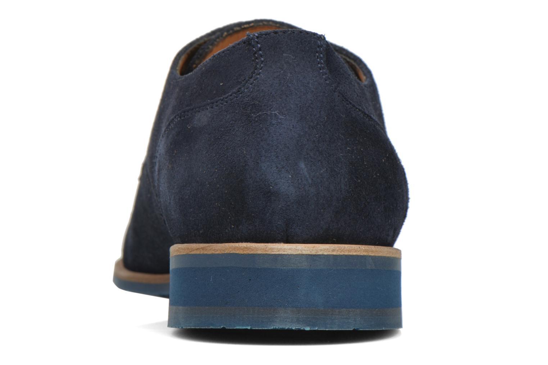 Zapatos con cordones HE Spring Max Azul vista lateral derecha