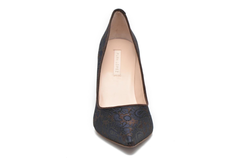 Escarpins Pura Lopez Olga Bleu vue portées chaussures