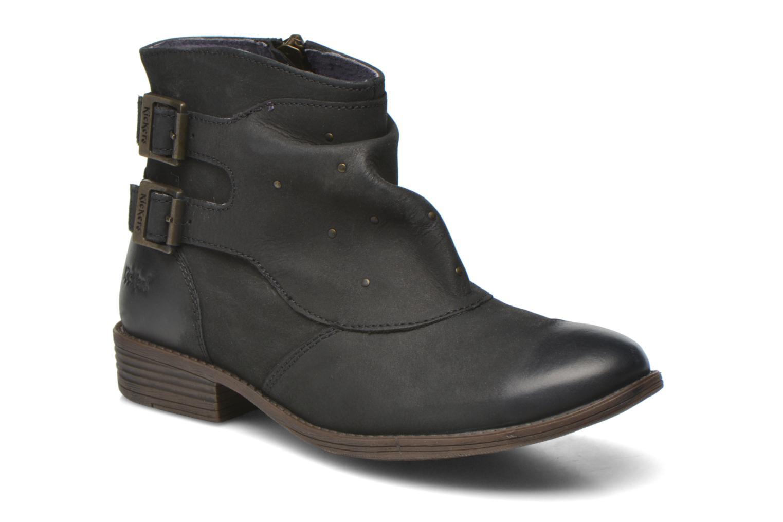 Bottines et boots Kickers Robot Noir vue détail/paire