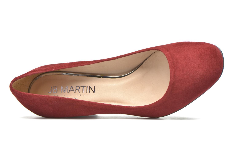 Zapatos de tacón JB MARTIN 1Rachele Rojo vista lateral izquierda