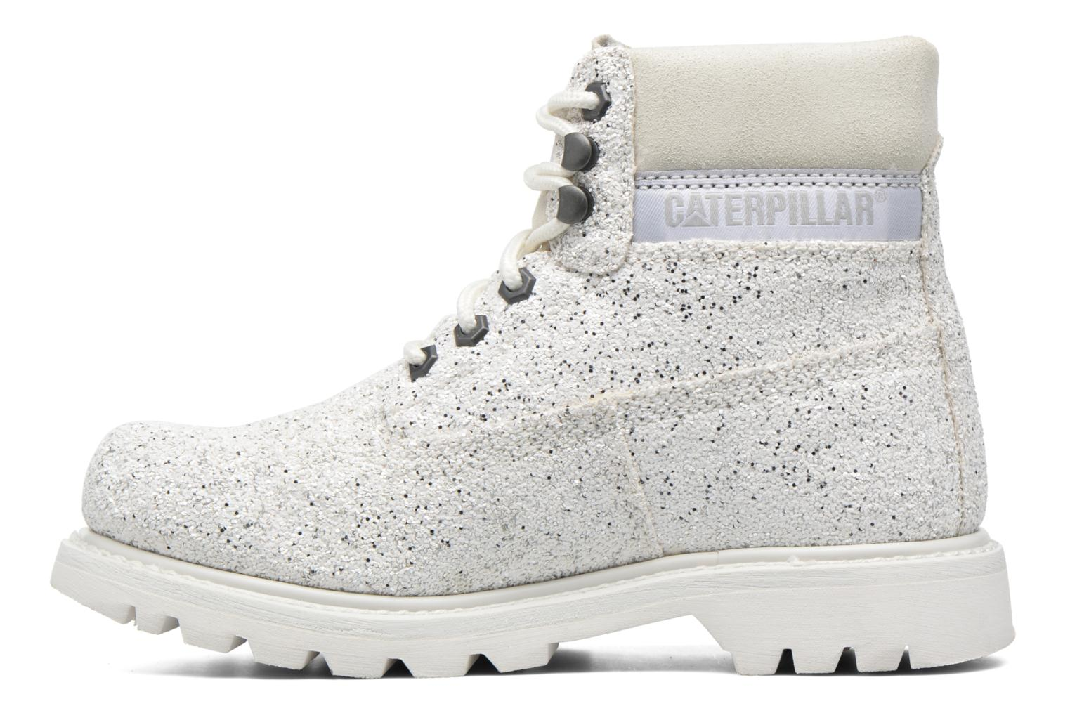 Chaussures à lacets Caterpillar Colorado Iridescent Blanc vue face