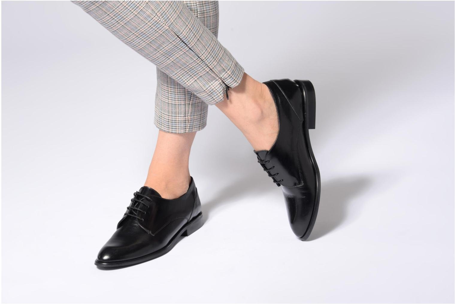 Lace-up shoes Jonak 2545 Black view from underneath / model view