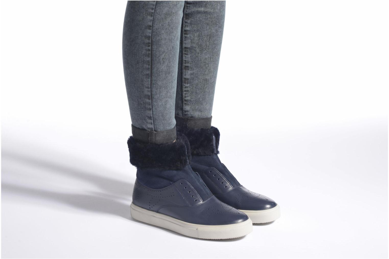 Bottines et boots Fratelli Rossetti Hobo fur avec fourrure Bleu vue bas / vue portée sac