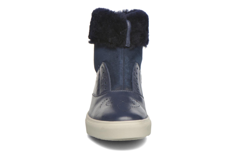 Bottines et boots Fratelli Rossetti Hobo fur avec fourrure Bleu vue portées chaussures