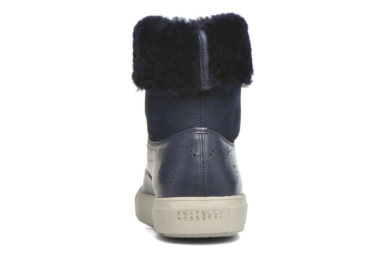 Bottines et boots Fratelli Rossetti Hobo fur avec fourrure Bleu vue droite