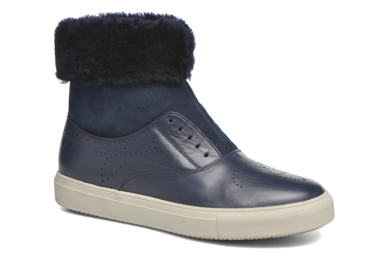 Bottines et boots Fratelli Rossetti Hobo fur avec fourrure Bleu vue détail/paire