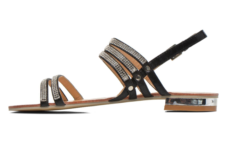 Sandales et nu-pieds Divine Factory Chamila Noir vue face