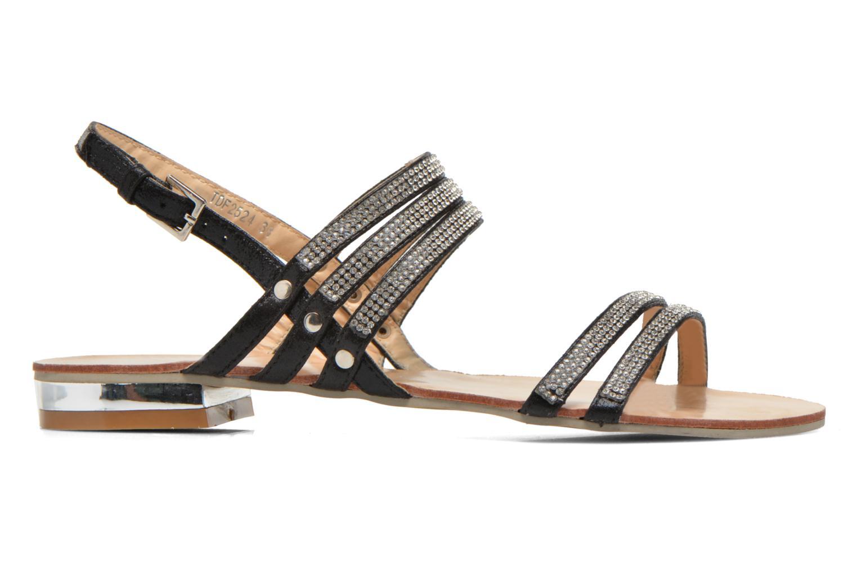 Sandales et nu-pieds Divine Factory Chamila Noir vue derrière
