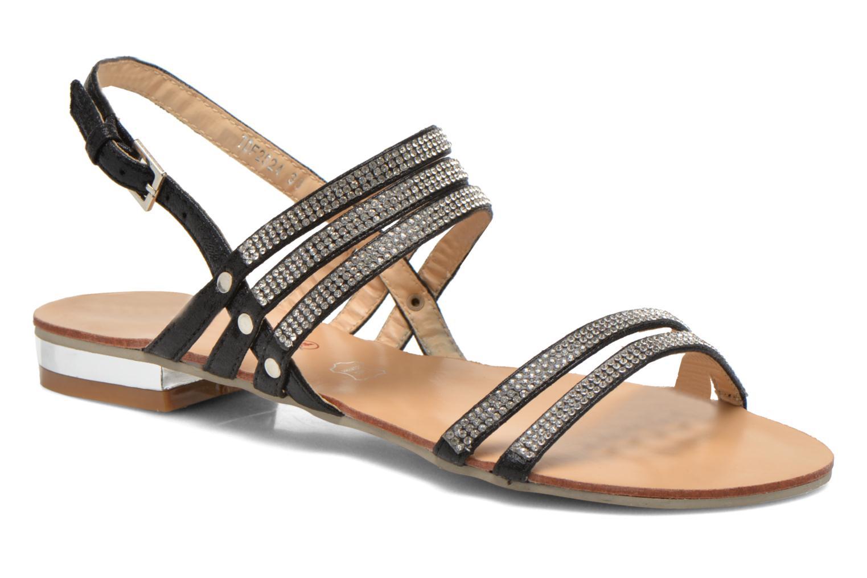 Sandales et nu-pieds Divine Factory Chamila Noir vue détail/paire