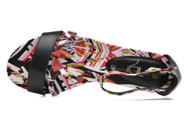 Sandales et nu-pieds Divine Factory Makiba Multicolore vue gauche