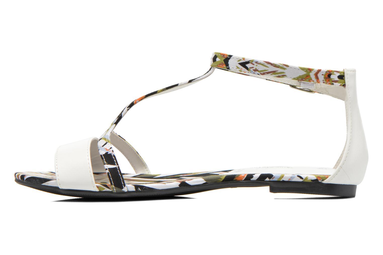 Sandales et nu-pieds Divine Factory Makiba Blanc vue face