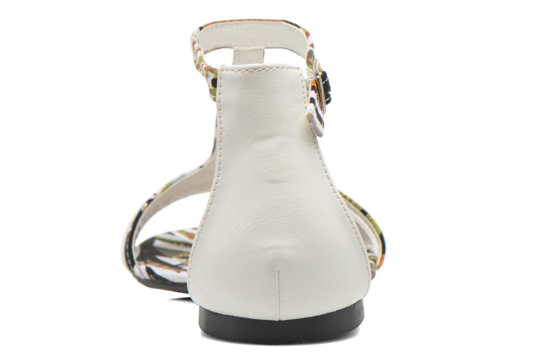 Sandales et nu-pieds Divine Factory Makiba Blanc vue droite