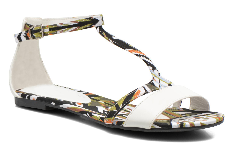 Sandales et nu-pieds Divine Factory Makiba Blanc vue détail/paire