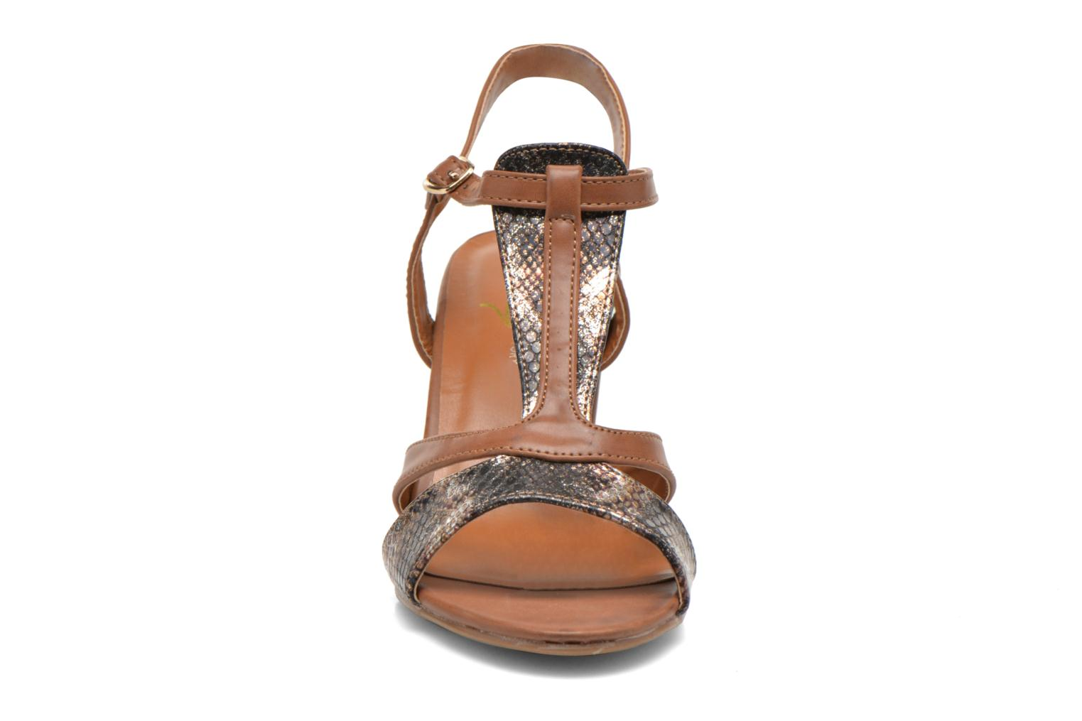 Sandals Divine Factory Yolina Brown model view