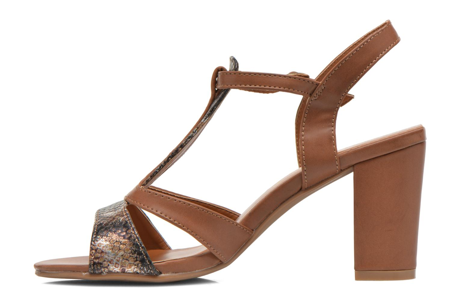 Sandals Divine Factory Yolina Brown front view