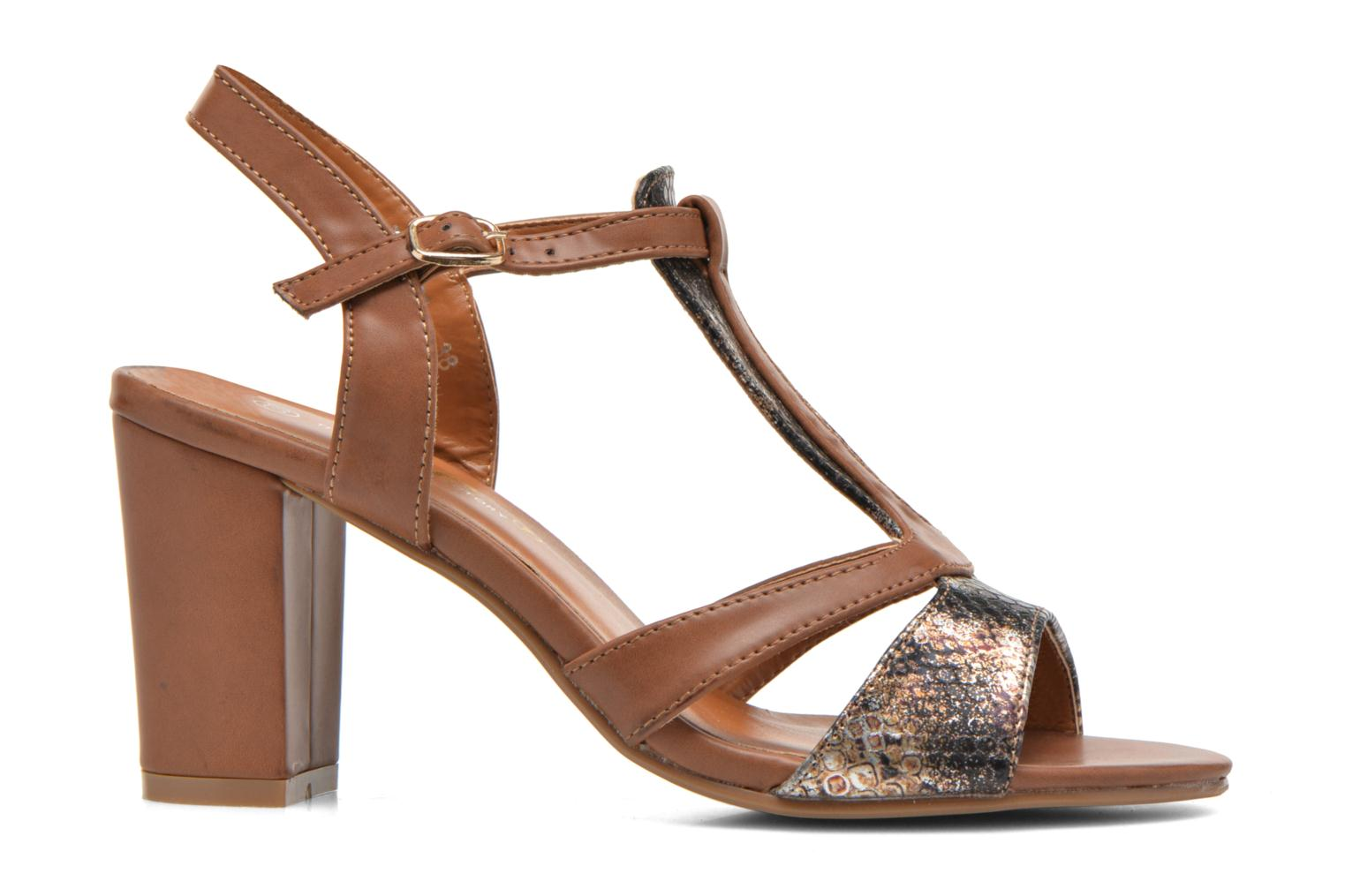 Sandals Divine Factory Yolina Brown back view