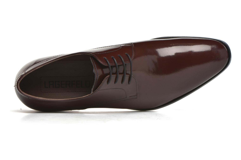 Chaussures à lacets Karl Lagerfeld Rafaelo Bordeaux vue gauche