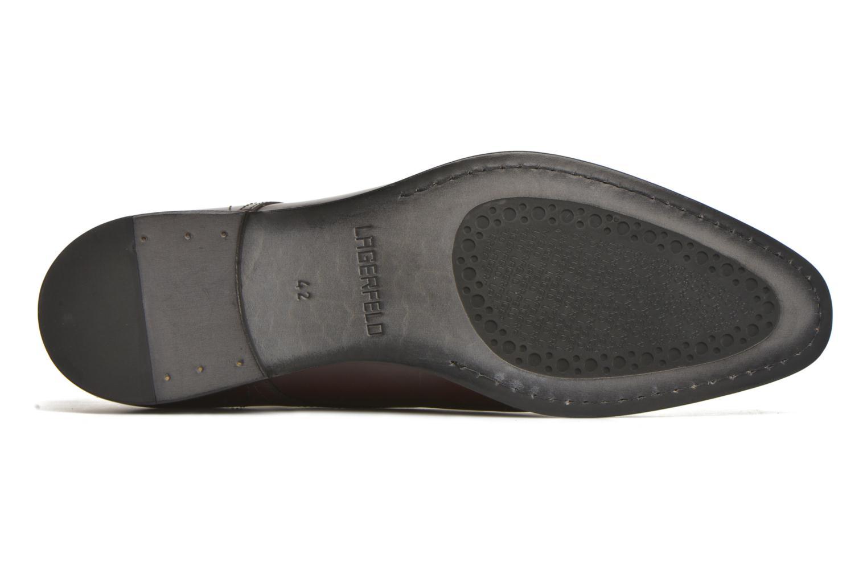 Chaussures à lacets Karl Lagerfeld Rafaelo Bordeaux vue haut