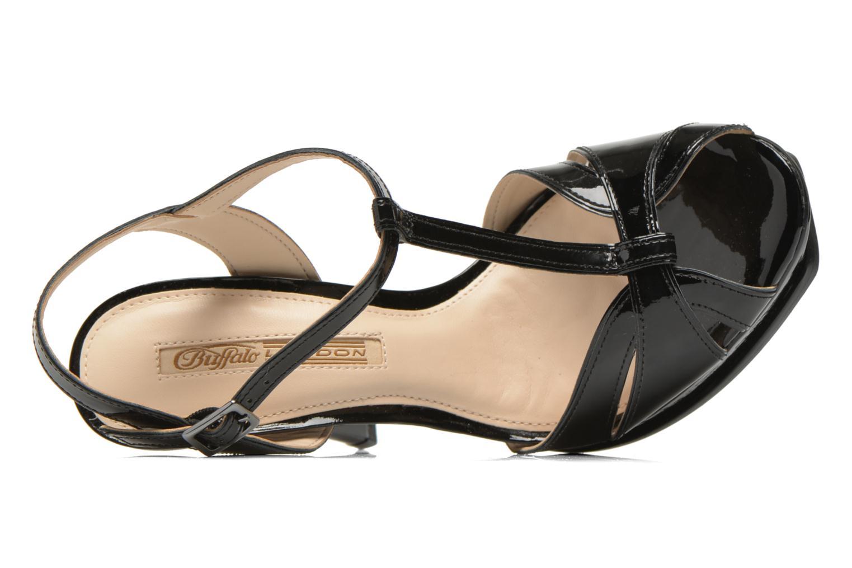Sandales et nu-pieds Buffalo Aya Noir vue gauche