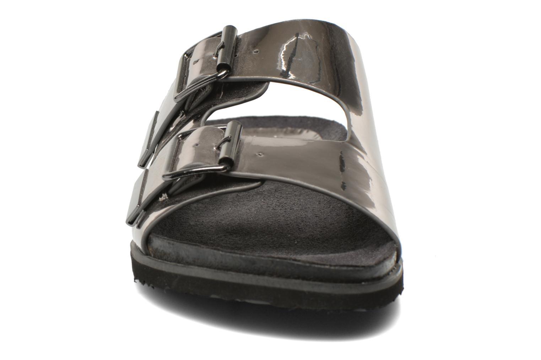 Mules et sabots Buffalo Criska Argent vue portées chaussures