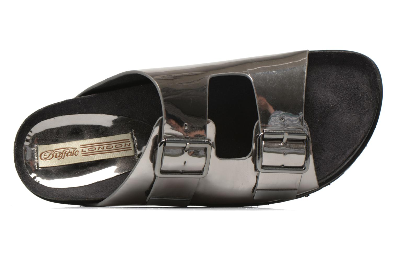 Mules & clogs Buffalo Criska Silver view from the left