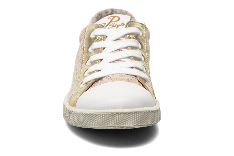 Baskets Primigi Holly Or et bronze vue portées chaussures