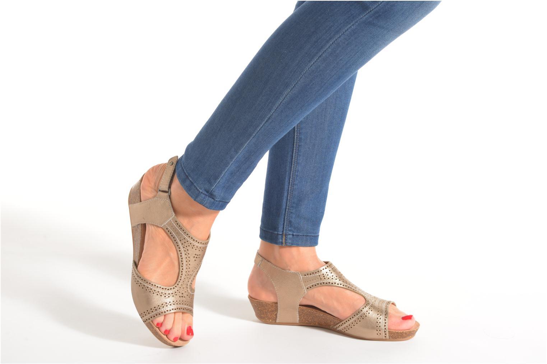 Sandales et nu-pieds Pikolinos RENNES 931-7840A Or et bronze vue bas / vue portée sac