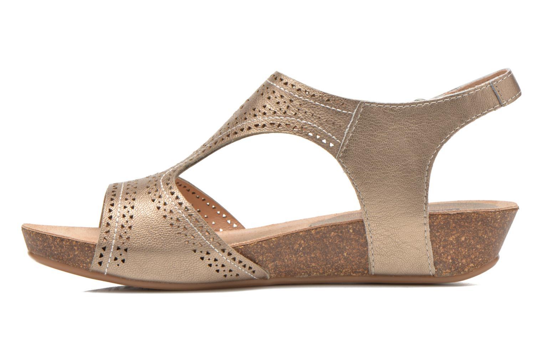 Sandales et nu-pieds Pikolinos RENNES 931-7840A Or et bronze vue face