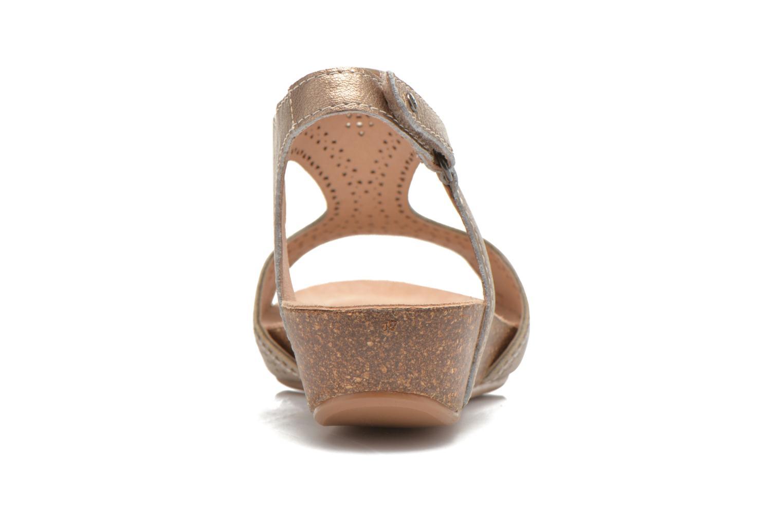 Sandales et nu-pieds Pikolinos RENNES 931-7840A Or et bronze vue droite