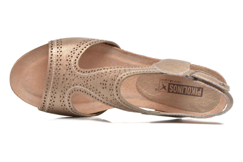 Sandales et nu-pieds Pikolinos RENNES 931-7840A Or et bronze vue gauche