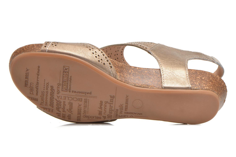 Sandales et nu-pieds Pikolinos RENNES 931-7840A Or et bronze vue haut