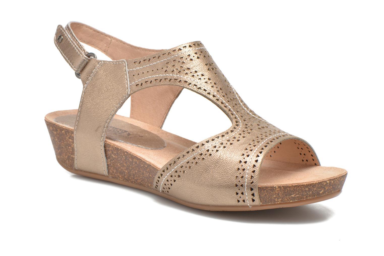 Sandales et nu-pieds Pikolinos RENNES 931-7840A Or et bronze vue détail/paire