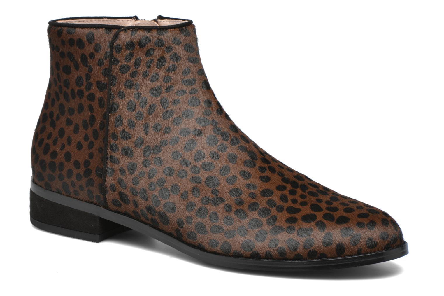 Ankle boots Mellow Yellow Alouna Brown detailed view/ Pair view