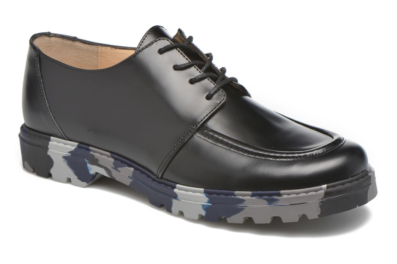 Zapatos con cordones Mellow Yellow Arsin Negro vista 3/4