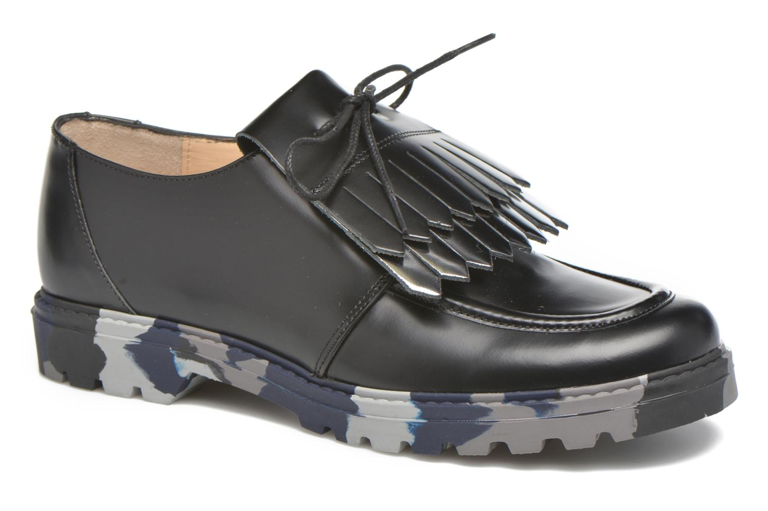 Lace-up shoes Mellow Yellow Arsin Black detailed view/ Pair view