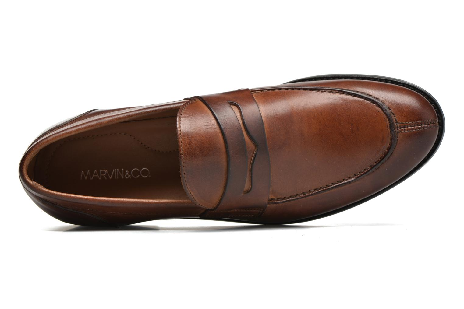 Mocassins Marvin&Co Nantlle Marron vue gauche