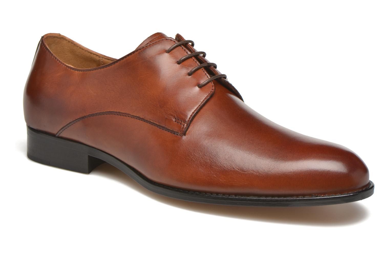 Snøresko Marvin&Co Naust Brun detaljeret billede af skoene
