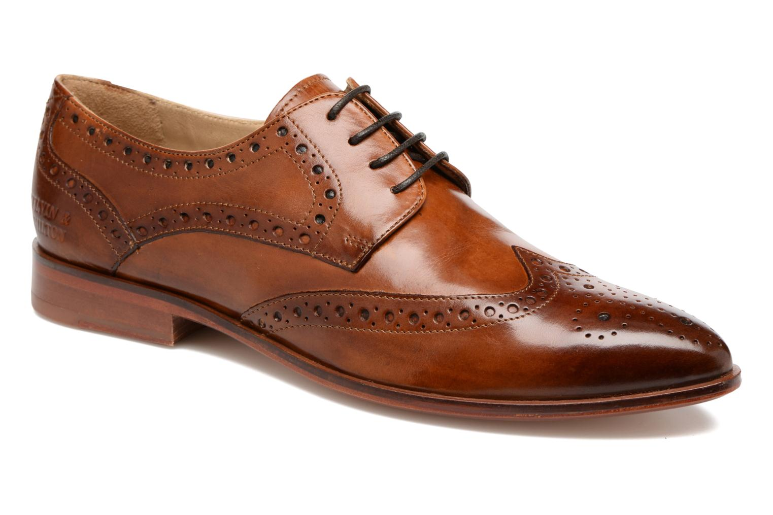 Lace-up shoes Melvin & Hamilton Jessy 6 Brown detailed view/ Pair view