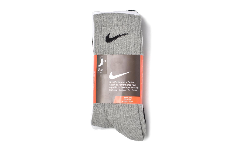 Nike Cotton Cushion Crew Training Sock (3 Pair) GRY HEATH(BK)WH(BK)BK(WH)
