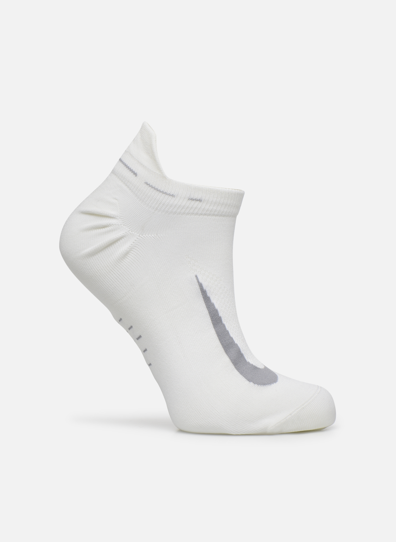 Strømper og tights Nike Nike Elite Lightweight No-Show Tab Running Sock Hvid detaljeret billede af skoene