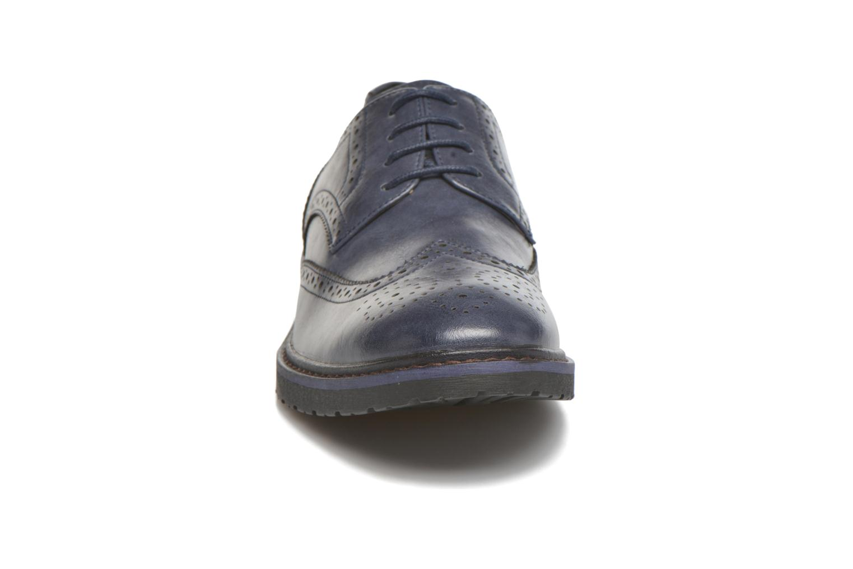 Scarpe con lacci I Love Shoes THEM Azzurro modello indossato