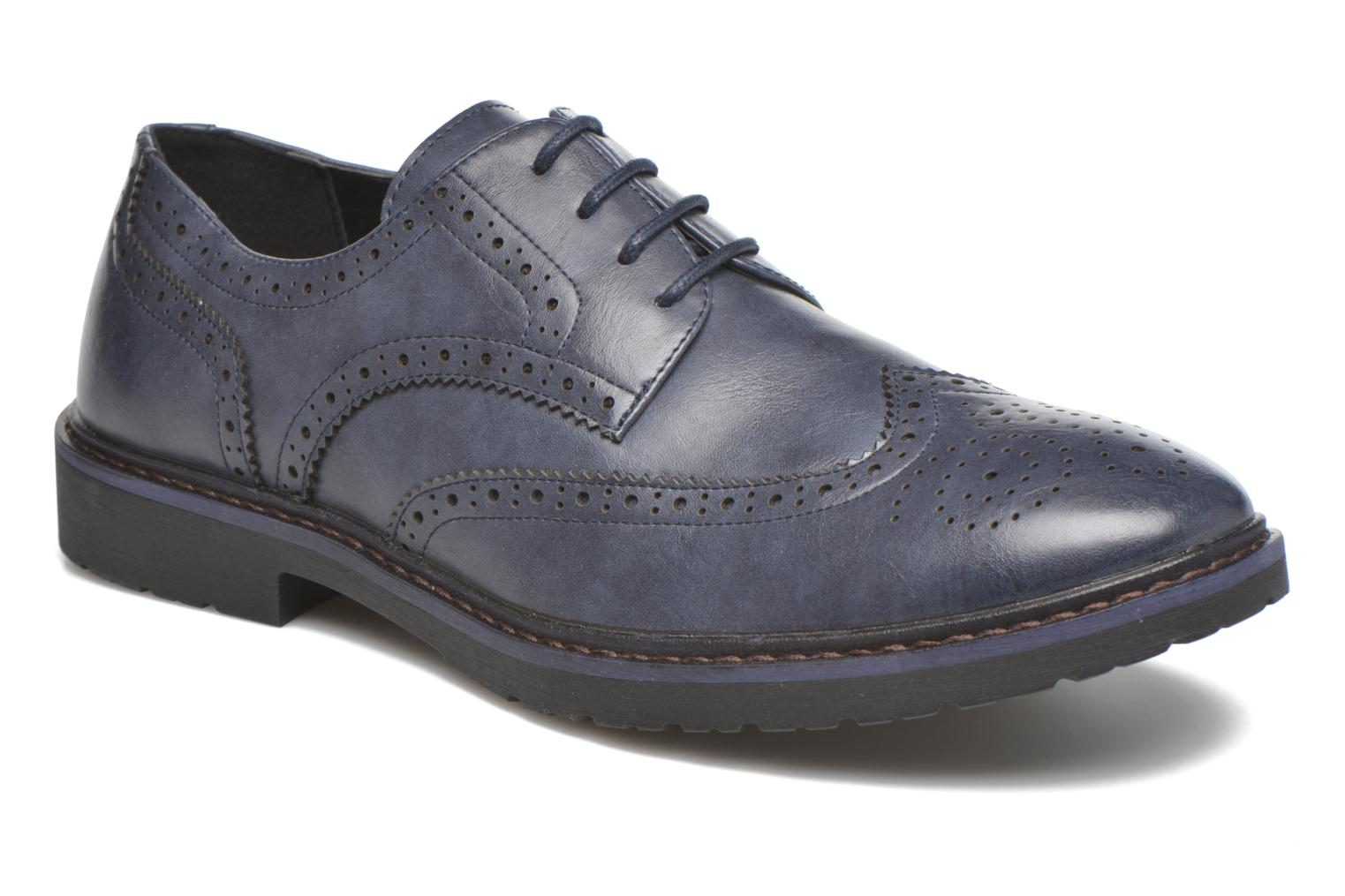 Lace-up shoes I Love Shoes THEM Blue detailed view/ Pair view